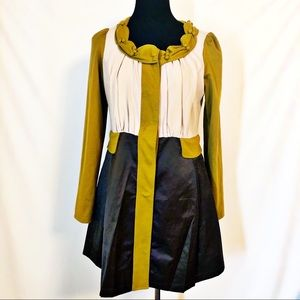 JUST IN Ryu Mustard Cream Brown Jacket L {Anthro}
